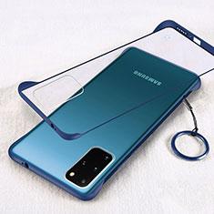 Cover Crystal Trasparente Rigida Cover S02 per Samsung Galaxy S20 Plus 5G Blu