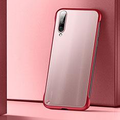Cover Crystal Trasparente Rigida Cover S02 per Xiaomi Mi A3 Rosso