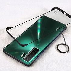 Cover Crystal Trasparente Rigida Cover S03 per Huawei Nova 7 SE 5G Nero