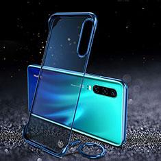 Cover Crystal Trasparente Rigida Cover S03 per Huawei P30 Blu