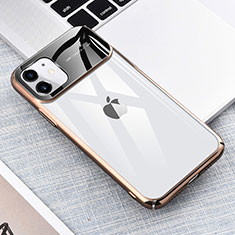 Cover Crystal Trasparente Rigida Cover S04 per Apple iPhone 11 Oro
