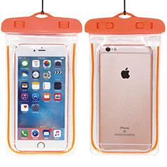Cover Impermeabile Subacquea Universale W01 per Huawei Mate 30 Arancione