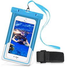 Cover Impermeabile Subacquea Universale W03 per Huawei Mate 40 Cielo Blu