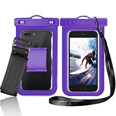 Cover Impermeabile Subacquea Universale W05 per Huawei Mate 30 5G Viola