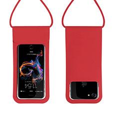 Cover Impermeabile Subacquea Universale W06 per Huawei Mate 30 Rosso