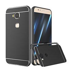 Cover Lusso Alluminio Laterale per Huawei G7 Plus Nero