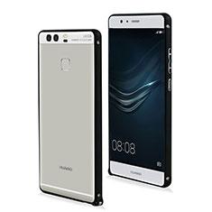 Cover Lusso Alluminio Laterale per Huawei P9 Nero