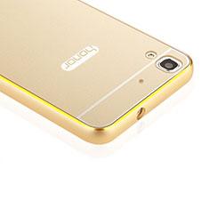 Cover Lusso Alluminio Laterale per Huawei Y6 Oro