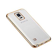 Cover Lusso Alluminio Laterale per Samsung Galaxy Note 4 Duos N9100 Dual SIM Oro