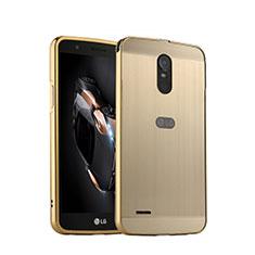 Cover Lusso Alluminio per LG Stylus 3 Oro