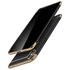 Cover Lusso Metallo Laterale e Plastica C01 per Apple iPhone X Nero