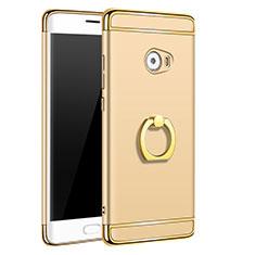 Cover Lusso Metallo Laterale e Plastica con Anello Supporto per Xiaomi Mi Note 2 Special Edition Oro