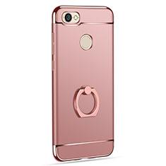 Cover Lusso Metallo Laterale e Plastica con Anello Supporto per Xiaomi Redmi Y1 Oro Rosa