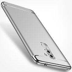 Cover Lusso Metallo Laterale e Plastica M02 per Huawei Honor 6X Argento