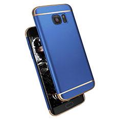 Cover Lusso Metallo Laterale e Plastica M02 per Samsung Galaxy S7 Edge G935F Blu