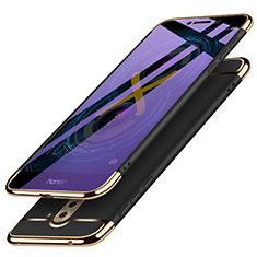 Cover Lusso Metallo Laterale e Plastica M03 per Huawei Honor 6X Nero