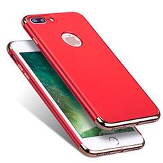 Cover Lusso Metallo Laterale e Plastica R01 per Apple iPhone 7 Plus Rosso