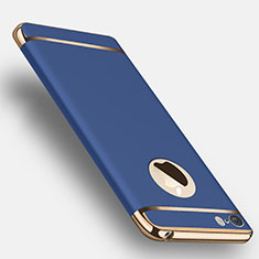 Cover Lusso Metallo Laterale e Plastica T01 per Apple iPhone 5 Blu