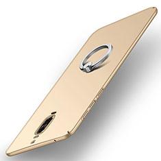 Cover Plastica Rigida Opaca con Anello Supporto A02 per Huawei Mate 9 Pro Oro