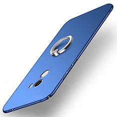 Cover Plastica Rigida Opaca con Anello Supporto A02 per Xiaomi Mi Mix Blu