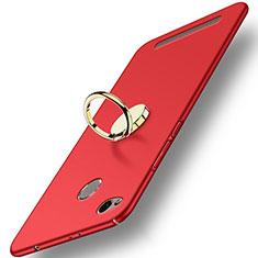 Cover Plastica Rigida Opaca con Anello Supporto A02 per Xiaomi Redmi 3 Pro Rosso