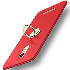 Cover Plastica Rigida Opaca con Anello Supporto A02 per Xiaomi Redmi Note 3 MediaTek Rosso