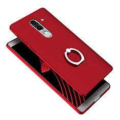 Cover Plastica Rigida Opaca con Anello Supporto A07 per Huawei Honor 6X Blu