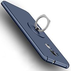 Cover Plastica Rigida Opaca con Anello Supporto per Huawei Honor 5C Blu