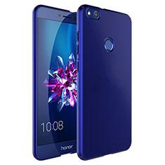 Cover Plastica Rigida Opaca con Anello Supporto per Huawei Honor 8 Lite Blu