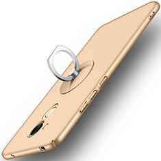 Cover Plastica Rigida Opaca con Anello Supporto per Huawei Honor V9 Play Oro