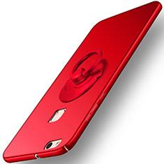 Cover Plastica Rigida Opaca con Anello Supporto per Huawei P10 Lite Rosso