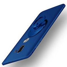 Cover Plastica Rigida Opaca con Anello Supporto per Xiaomi Mi 5S Plus Blu