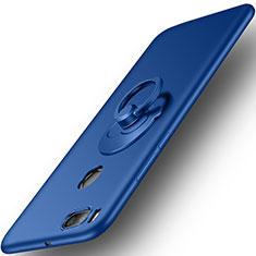 Cover Plastica Rigida Opaca con Anello Supporto per Xiaomi Mi 5X Blu