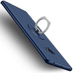 Cover Plastica Rigida Opaca con Anello Supporto per Xiaomi Mi Note 2 Blu