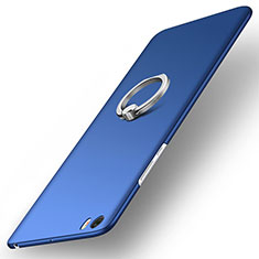 Cover Plastica Rigida Opaca con Anello Supporto per Xiaomi Mi Note Blu
