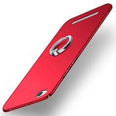 Cover Plastica Rigida Opaca con Anello Supporto per Xiaomi Redmi 3 Rosso