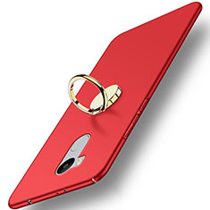 Cover Plastica Rigida Opaca con Anello Supporto per Xiaomi Redmi 4 Prime High Edition Rosso