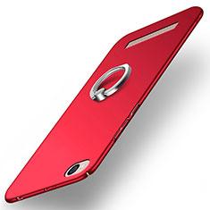 Cover Plastica Rigida Opaca con Anello Supporto per Xiaomi Redmi 4A Rosso