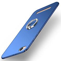 Cover Plastica Rigida Opaca con Anello Supporto per Xiaomi Redmi 5A Blu