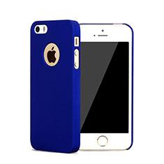 Cover Plastica Rigida Opaca con Foro per Apple iPhone 5 Blu
