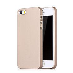 Cover Plastica Rigida Opaca con Foro per Apple iPhone SE Oro Rosa