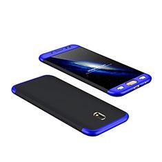 Cover Plastica Rigida Opaca Fronte e Retro 360 Gradi per Samsung Galaxy J7 Pro Blu e Nero