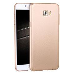 Cover Plastica Rigida Opaca M04 per Samsung Galaxy C7 Pro C7010 Oro