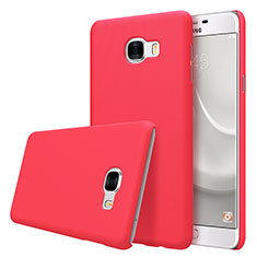 Cover Plastica Rigida Opaca M08 per Samsung Galaxy C7 SM-C7000 Rosso