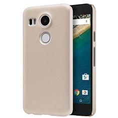 Cover Plastica Rigida Opaca P01 per Google Nexus 5X Oro