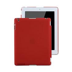Cover Plastica Rigida Opaca per Apple iPad 2 Rosso
