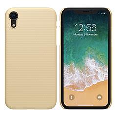 Cover Plastica Rigida Opaca per Apple iPhone XR Oro