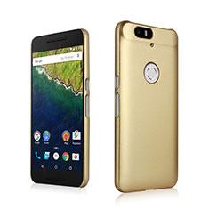 Cover Plastica Rigida Opaca per Google Nexus 6P Oro