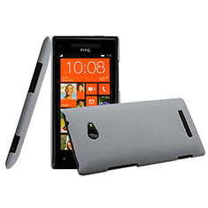Cover Plastica Rigida Opaca per HTC 8X Windows Phone Grigio