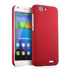 Cover Plastica Rigida Opaca per Huawei Ascend G7 Rosso